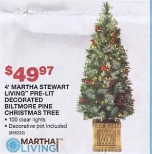 4 martha stewart living pre lit decorated biltmore pine christmas tree blackfriday fm