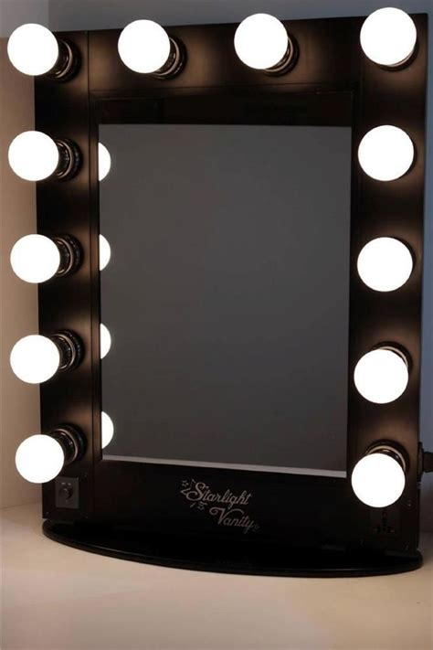makeup desk with lighted mirror starlight hollywood lighted vanity makeup mirror table top