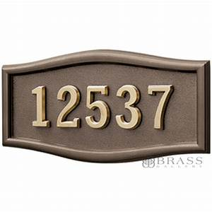 Gaines 1 line bronze 5 letter roundtangle house number for House numbers and letters plaques