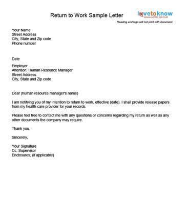examples   return  work letter midwifery return