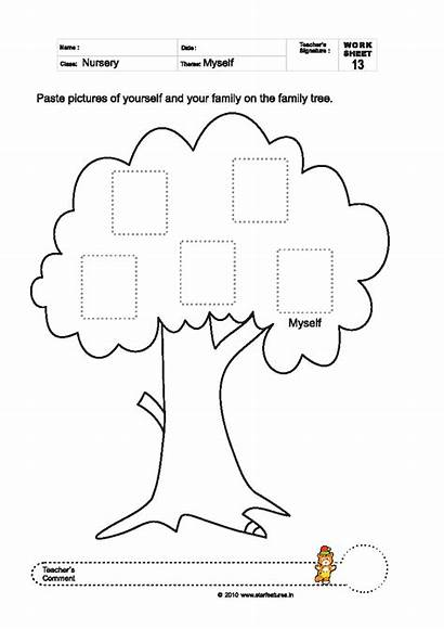 Worksheets Tree Primary Pre Myself