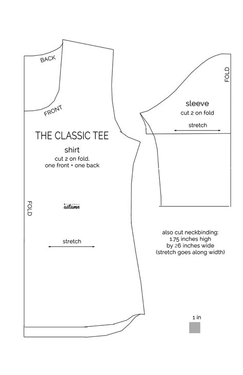 Template For Sewing by T Shirt Sewing Pattern Pdf Sweater Tunic