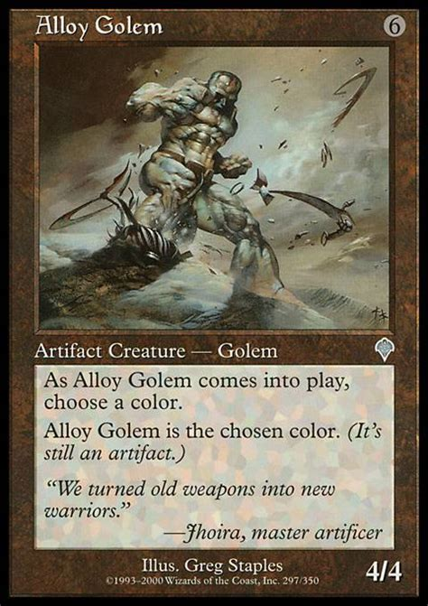Magic The Gathering Golem Deck by Alloy Golem Mtg Card