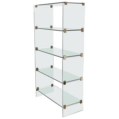 Glass Etagere Display by Mid Century Modern Brass And Glass Display Etagere In The