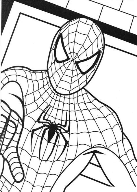 free printable spiderman coloring pages for kids super