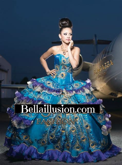 peacock themed quinceanera dress quince ideas