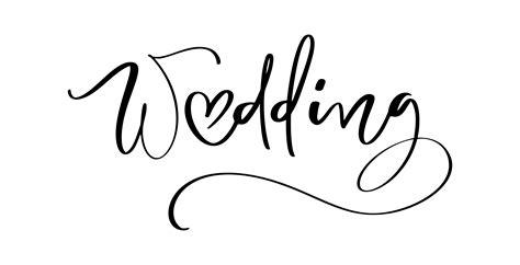 wedding vector lettering text  heart  white