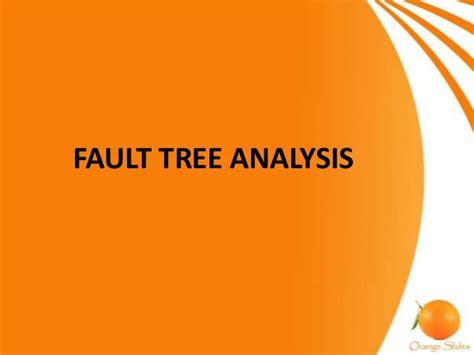 fault tree analysis fta seminar