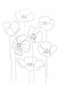Simple Poppy Flower Drawing