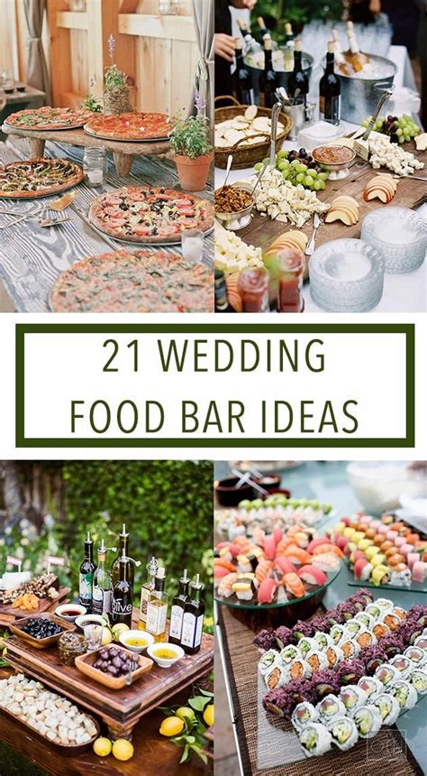 My plans for this menu were affected by the fact that i was very busy leading up to the wedding, but on what we made on the reception day (at the venue). Wedding Planning | Wedding food bars, Wedding food ...