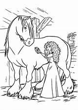 Coloring Horse Pages Princess Merida Miniature Cleaning Disney Printable Bow Getcolorings Getdrawings Princes Colorings sketch template