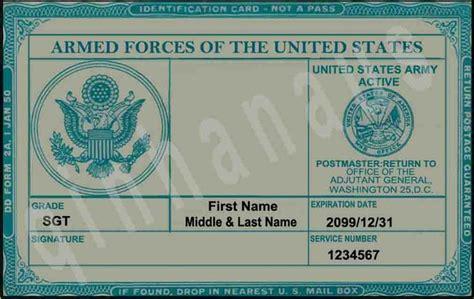 Us Army Id Card  Idade Media