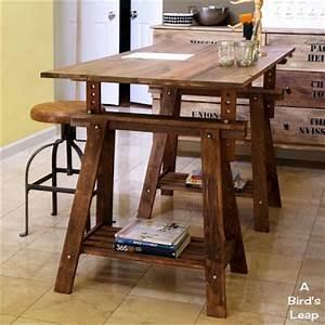 Construye una mesa rústica con caballetes - Guía de