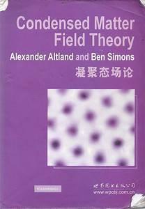 Altland Condensed Matter Field Theory Pdf