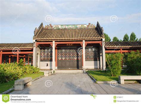 casa cinese la casa cinese antica giardino immagine stock