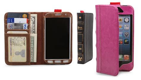 Iphone 4 Bookcase by Aduro Bookcase Folio And Wallet For Iphone 5 Or Samsung
