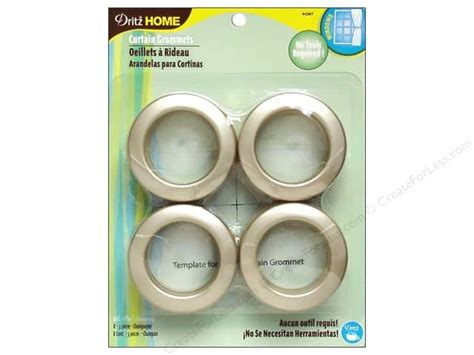 dritz plastic curtain grommets dritz home curtain grommets 1 9 16 in chagne 8pc