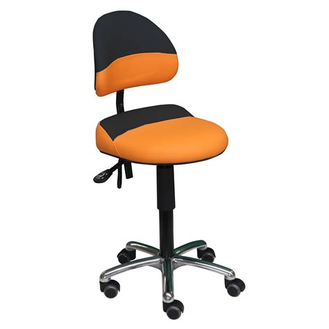 si鑒e assis debout ergonomique siège assis debout bicolore aure de siegepro orange noir avec excellent maintien lombaire siègepro