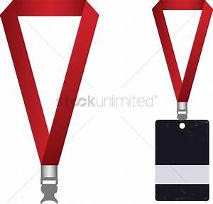 Vector of access card and lanyard Vector Image - 1234648 ...