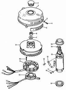 Mercury Marine 50 Hp  3 Cylinder  Flywheel  U0026 Starter Motor