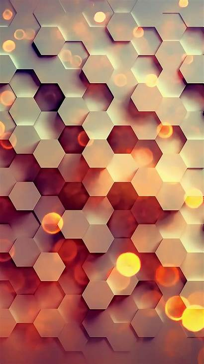 Pattern Iphone Hexagon Background Abstract Digital Wallpapers