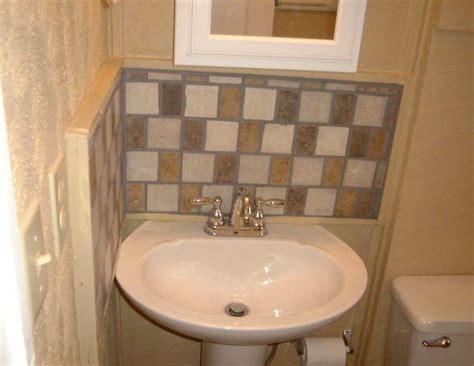 bathroom sink backsplash ideas pedestal sink backsplash ideas bathroom sink backsplash