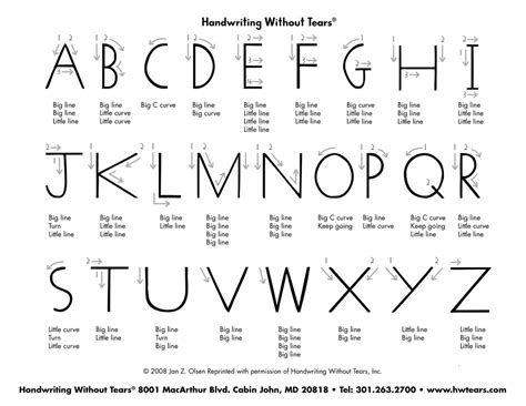 search results for handwriting without tears printables