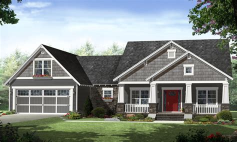 Ranch House Plans One Story House Plans, Craftsman 1 Story