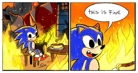 This Is Fine Meme Template by This Is Fine By Drawloverlala On Deviantart
