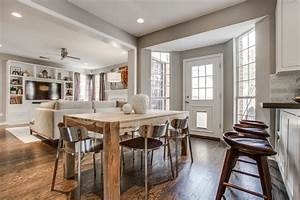 Transitional family room kitchen combo decoseecom for Kitchen dining family room design