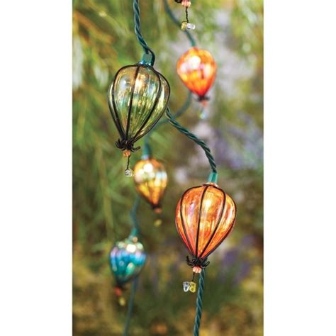10ct decorative string lights iridescent tear drop plastic
