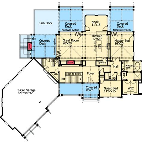 rear view house plans house design plans