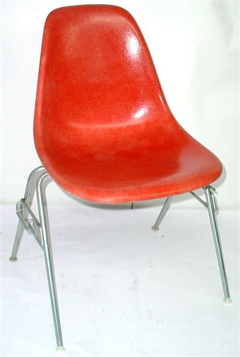 genuine vintage herman miller orange shell chair w