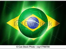 Soccer football ball with brazil flag 3d soccer ball with