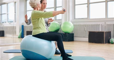 stability ball exercises  seniors livestrongcom