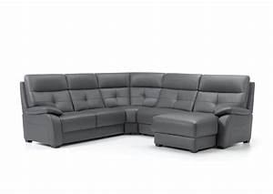 acheter votre canape d39angle contemporain fixe ou relax With canapé angle contemporain