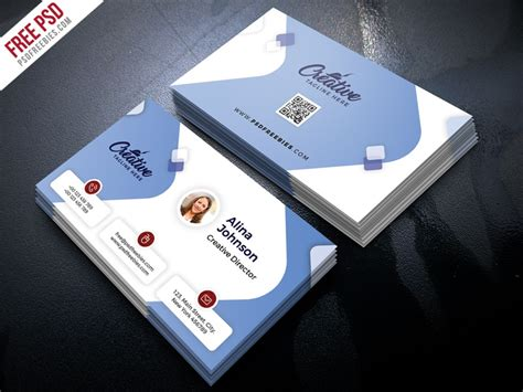 clean business card design  psd  psd freebies