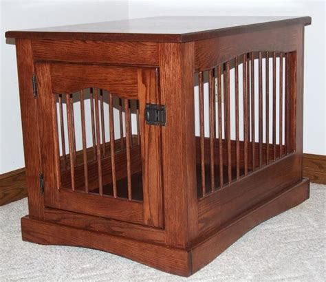 wooden  table dog crate woodworking projects plans