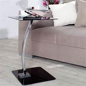 Tablett Tisch Schwarz : beistelltisch james schwarz glas 58 cm laptop ~ Whattoseeinmadrid.com Haus und Dekorationen