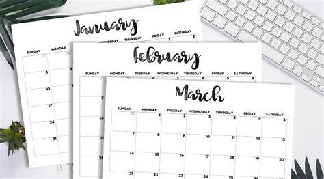 calendar printable  template lovely planner