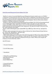 research report global document management systems With document management system 2016