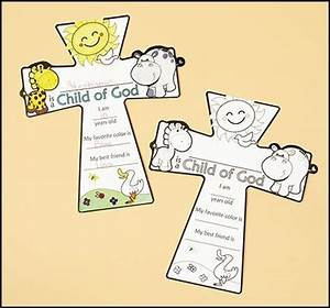 Color Your Own I am a Child of God Cross Kids rock