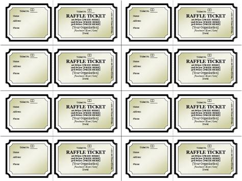 50 50 raffle tickets template 50 free raffle ticket templates templatehub