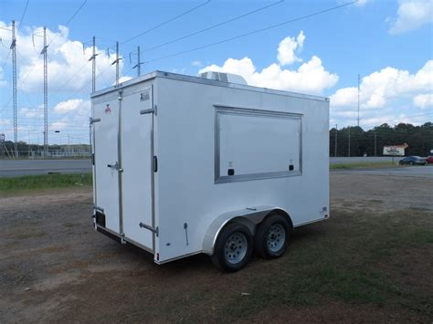 Concession Trailer Sink Package by 2016 Covered Wagon Consession Enclosed 7x12 Trailer With