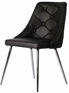 Chaise En Cuir Noir : chaise design en simili cuir noir cabriole ~ Teatrodelosmanantiales.com Idées de Décoration