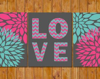 floral bloom blossom teen girls hot pink teal chevron