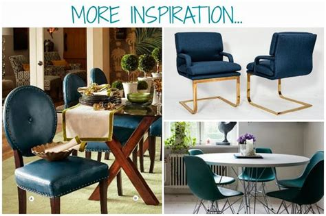 peacock blue dining chairs living dining room