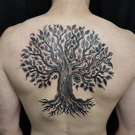 significant tree tattoo designs   roots