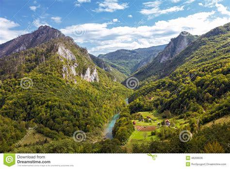 house plans tara river montenegro stock photo image 46209536