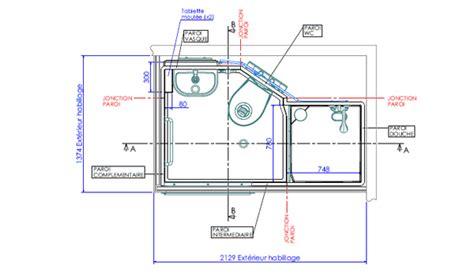 porte de chambre froide cabine sanitaire préfabriquée aquanova 2 aux normes erp